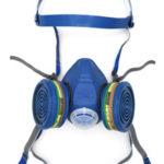 Spasciani Duo félálarc, légzésvédő eszköz, pormaszk helyett festékszóráshoz, mérges gázok kiszűrésére, légzőálarc