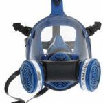 Spasciani Dupla légző teljes álarc két szűrővel, olcsó légzőmaszk, légzésvédelmi eszköz