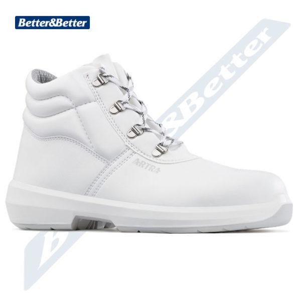 Artra cipő egészségügyi és élelmiszeripari munkákhoz használható ARTRA munkavédelmi fehér védő bokacipő