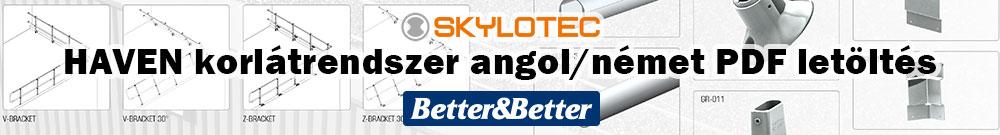 Skylotec HAVEN lapostető korlátrendszer angol/német termékkatalógus letöltés PDF