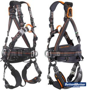 Skylotec teljes testheveder, zuhanásvédelmi egyéni védőeszköz. Magasban végzett munkához, alpintechnikai munkához. munkavédelmi eszköz
