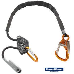 Munkahelyzet beállító kötél készlet, zuhanásvédelmi eszköz éles élek elleni védelemmel. Német Skylotec termék. Egyéni védőeszköz alpintechnika, magasban végzett munka